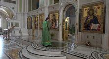 Божественная литургия в день Обретения мощей прп. Серафима Саровского чудотворца